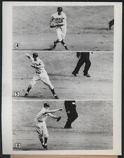 1954 Orig GIANTS vs INDIANS WORLD SERIES Game 2 Press Photo - Dark Shines