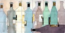 Art Mural Ceramic Wine Bottles Backsplash Bath Tile #2601