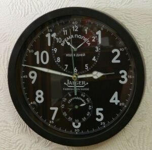 Wall Clock Soviet Russian USSR Jaeger aircraft cockpit chronograph AChS-1
