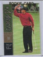 TIGER WOODS Upper Deck ROOKIE CARD Premier Edtion GOLF RC ~ THE GOAT!