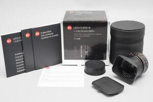 *MINT* Leica Elmar-M 24mm f/3.8 F3.8 ASPH. Lens (11648), Black - 6 BIT Boxed