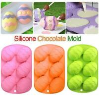 Easter Egg Shape Silicone Moulds Chocolate Mould Cake Dough Baking Tray