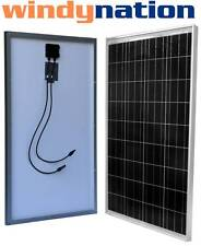100 Watt 100W 12V 12 Volt Slim Solar Panel Battery Rv Boat Camping Off Grid