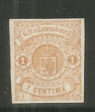 Luxembourg 1859-64 Coat of Arms 1c buff (4) MH