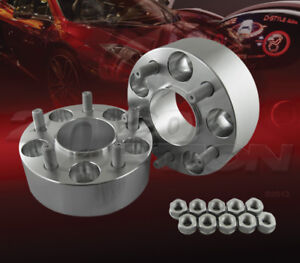 """2pc 50mm (2"""") Thick 5x114.3 Hub Centric Wheel Adapters Spacers M12x1.5 70.3mm"""