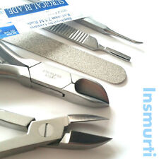 Pro Manicure Pedicure Heavy Duty Toe Nail Cutter Clipper Set-Podiatry Chiropody