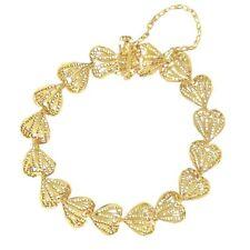 -10% Bracelet ancien or coeurs filigranés