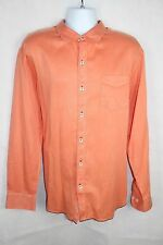 Tommy Bahama Jeans Island Crafted Orange Button Down Shirt, Men's XL