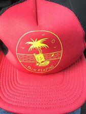 RARE New Era Palm Reading Snapback Trucker Dad Hat Cap Funny Beach Tree Tropical
