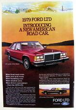 Magazine Print Ad 1979 Ford LTD Landau 4 Door Sedan