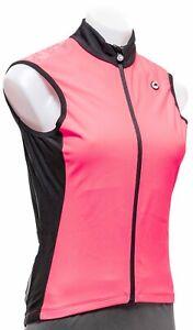 Assos UMA GT Spring Fall Airblock Vest Women MEDIUM Pink Road Bike Cycling MTB