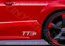 2x AUDI il premio CAST Gon na Decalcomanie Adesivi TT RS S-LINE TDI TFSI FSI QUATTRO