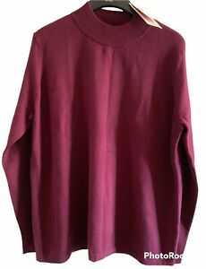TU Womens Dark Red Pullover Jumper Size 14 New Tagged