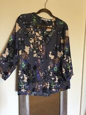 Collective Concepts Floral Blouse Button Top Shirt Medium