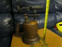 Vintage Antique Turner Brass Soder Torch Gas Blow Torch (2)