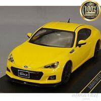 FIRST:43 Mini Car F43-079 1/43 Subaru BRZ STI tS 2013 Yellow Finished product