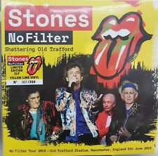THE ROLLING STONES - SHATTERING OLD TRAFFORD - 2 X YELLOW LIME VINYLS n.006/350
