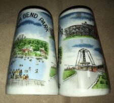 Vintage BEECH BEND Amusement Park Souvenir Salt & Pepper Shakers KY Rides