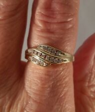 10K Yellow Gold Genuine Diamond Right Hand Ring FREE SIZING! ! !