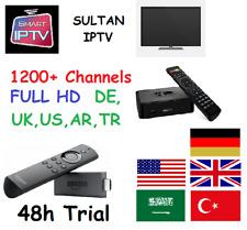 SULTANIPTV IPTV BEIN TR OSN DE TR AR UK USA 1200  CHANNELS SMARTTV M3U MAG