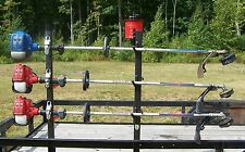 3-Place Trimmer Rack - FREE 3 LB. Trim line Holder OPEN Landscape Trailer - PK-6