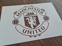 Large Manchester Football Club FC Logo Stencil Airbrush Paint Reusable Template
