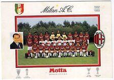 Cartolina Squadra AC Milan Stagione 1992/93