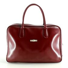 Longchamp Burgundy Red Leather Tote Bag - Limited Edition