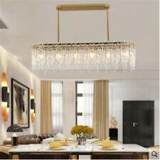 modern led dining room chandelier simple rectangular restaurant crystal lighting