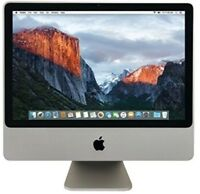 "Apple iMac 9,1 A1224 20"" Core 2 Duo P7350 2.0GHz 2GB RAM 160GB HDD El Capitan"