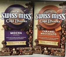Swiss Miss Cafe Blends Mocha & Caramel Macchiato Flavored Cocoa Coffee Blends