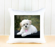 PERSONALISED PHOTO SOFT CUSHION COVER WITH YOUR PET DOG, PUPPY KEEPSAKE GIFT