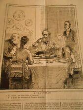 Caricature 1873 - A Trouville Un obus dans ce saumon ! souvenir année dernière
