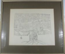 Vintage MId-Centry Modern 1963 Etching Tree of Life by C Pearson-Clifford Listed