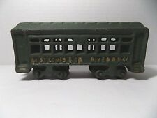 Cast Iron Railroad Passenger Coach Train Car St Louis & Ohio River RR 44 Green