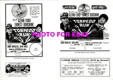 TORPEDO RUN Pressbook, MGM, Glenn Ford, Dean Jones, Diane Brewster, CINEMASCOPE