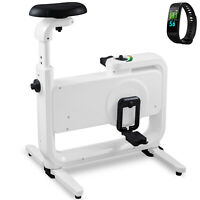 Magnetic Exercise Bike Desk W/ Smart Band 220LBS Unisex Anti-skid Feet ABS