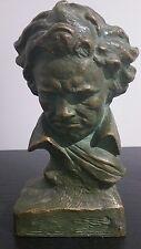 buste beethoven de l atelier terre cuite d art signé U. CIPRIANI. Couleur bronze