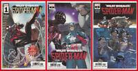 MILES MORALES SPIDER-MAN #1 2 & 3 (2nd PRINT) VARIANT SET Marvel 2019 NM- NM