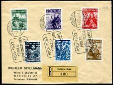 ÖSTERREICH 1933 557-562 KATHOLIKENTAG auf SCHÖNEM R BRIEF SST(Z7621