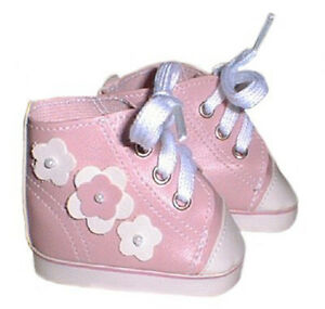 Pink High Top Sneakers Fits 18 inch American Girl Dolls