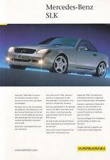 MERCEDES SLK R170 KARMANN Roadster Dach Prospekt Brochure Sheet Klappdach 58