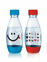 SodaStream 2 X Carbonating Bottles 0.5 L Liter Red & Blue Expire in 3 years!