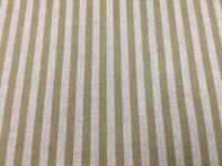 Provencal Stripe OCHRE Yellow Linen/Cotton 140cm wide Curtain/Upholstery Fabric