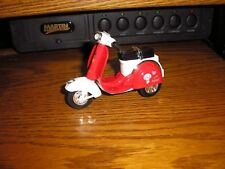 """Die Cast 1/16 ? 4 1/4"""" Vintage Scooter Moped with Pull Back Action Red Free Ship"""