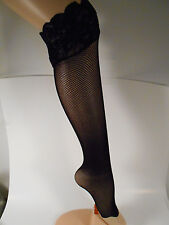 LOT OF 60 LOOSE Lace Top Thigh High FISHNET STOCKINGS  - SILICONE - MEDIUM/LARGE