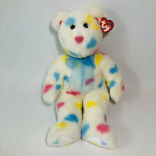 "Ty Beanie Buddies Kissme Bear Valentine Hearts 14"" Tall"