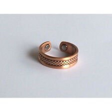 Copper Magnetic Adjustable Ring  CRISS CROSS DESIGN solid copper CR6
