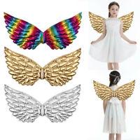 Baby Kid Girl Metallic Fairy Wings Costume Princess Fancy Dress Up Costume Party