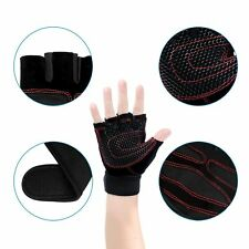 Gloves Weight Lifting Half Finger Sports Gym Cycling Bike Outdoor Unisex Size L